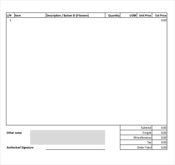 18+ Blank Order Templates u2013 Free Sample, Example, Format Download - purchase order format free download