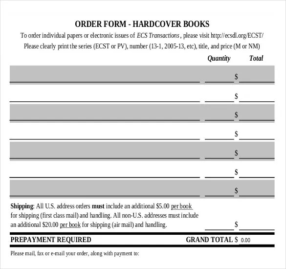 28+ Blank Order Templates \u2013 Free Sample, Example, Format Download - shipping form templates