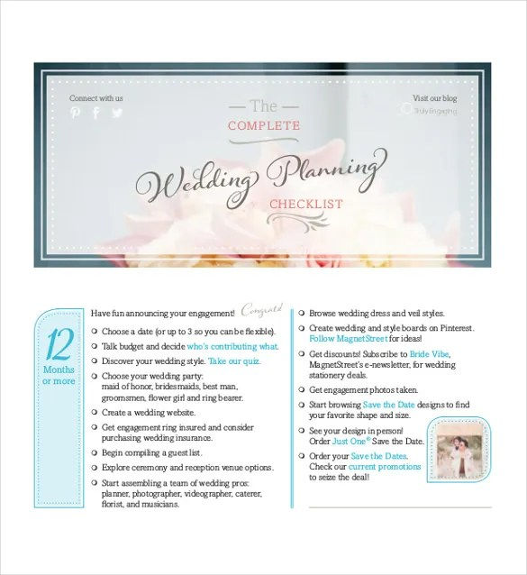 Wedding Checklist Template - 20+ Free Excel Documents Download