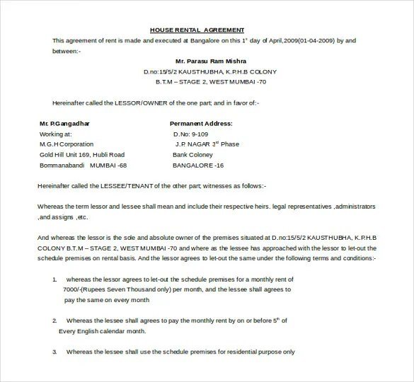 21+ Word Rental Agreement Templates Free Download Free  Premium - agreement in word