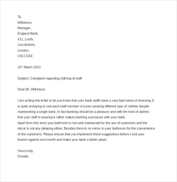 10+ Funny Complaint Letter Templates \u2013 Free Sample, Example, Format