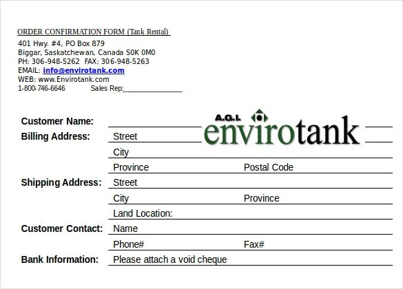 19+ Order Confirmation Templates \u2013 Free Sample, Example, Format