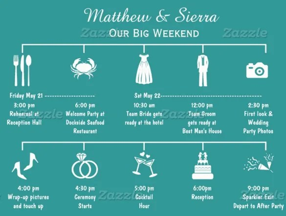 Wedding Timeline Template \u2013 35+ Free Word, Excel, PDF, PSD, Vector - wedding timeline