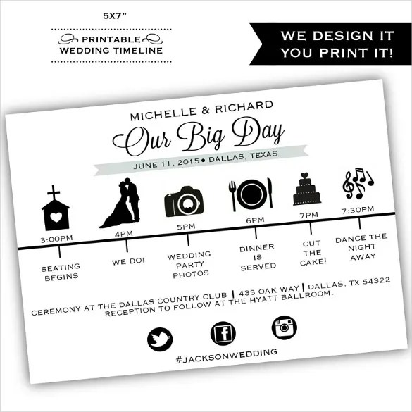 wedding timeline template free download - Boatjeremyeaton - wedding timeline