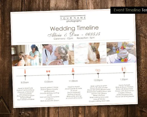 29+ Wedding Timeline Template -Word, Excel, PDF, PSD, Vector EPS