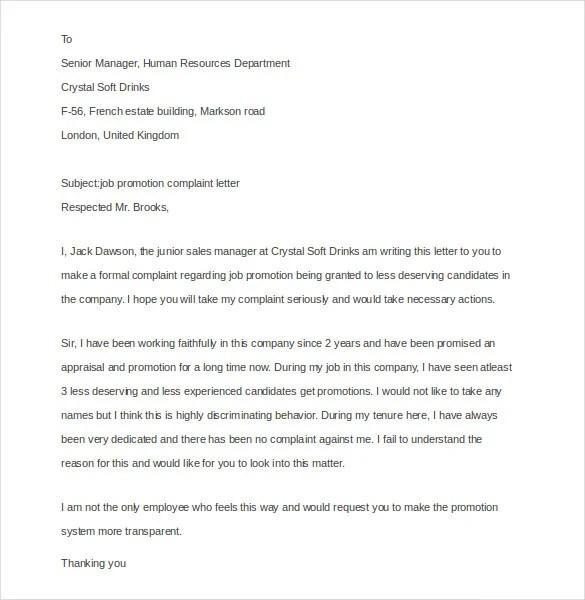 15+ Employee Complaint Letter Templates - PDF, DOC Free  Premium