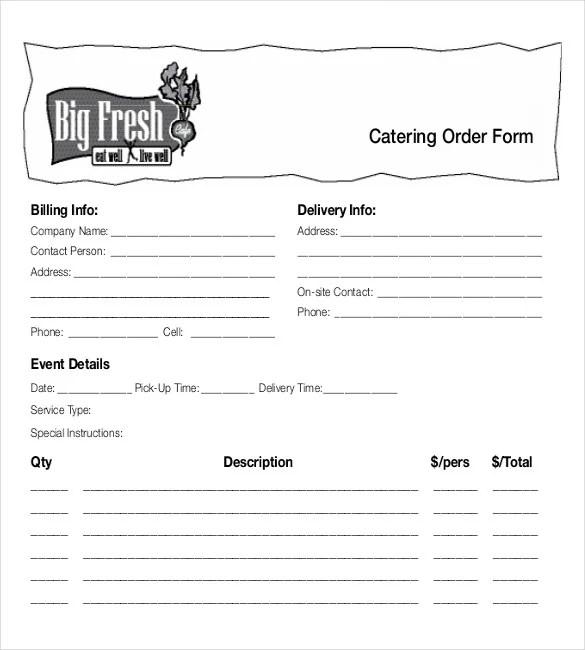 15+ Food Order Templates u2013 Free Sample, Example, Format Download - order templates free