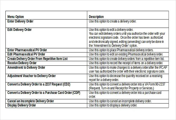 20+ Delivery Order Templates u2013 Free Sample, Example, Format - purchase order format free download
