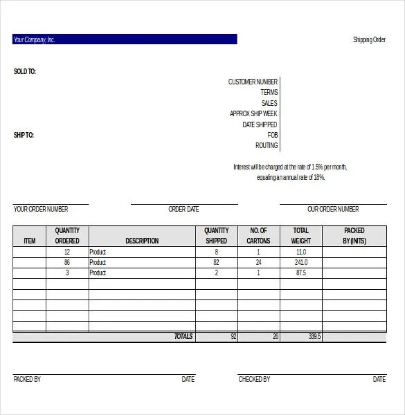 52247 1 Commercial Bill Of Lading Notations 22 Delivery Order Templates – Free Sample Example