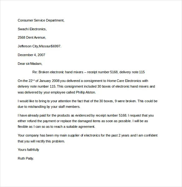 10+ Business Complaint Letter Templates u2013 Free Sample, Example - business complaint letter format