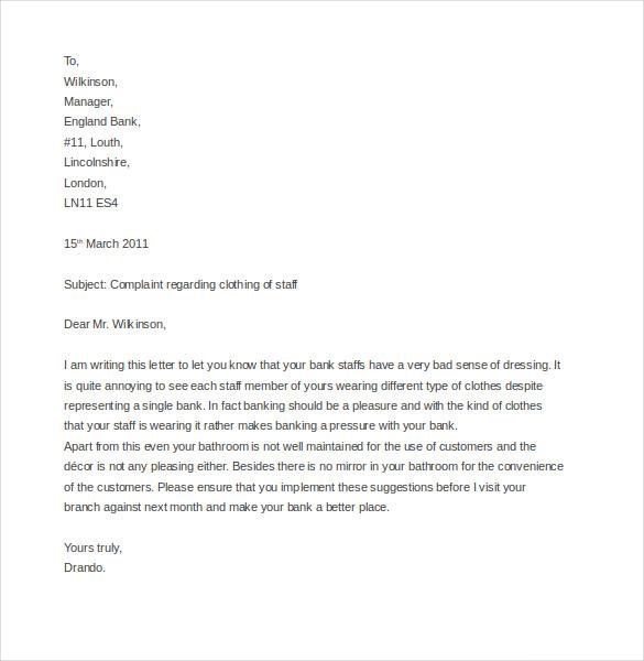 10+ Business Complaint Letter Templates - PDF, DOC Free  Premium