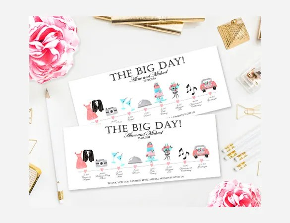 28+ Wedding Schedule Templates  Samples - DOC, PDF, PSD Free