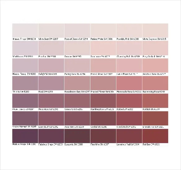General Color Chart Template sample urine color chart download - sample pms color chart