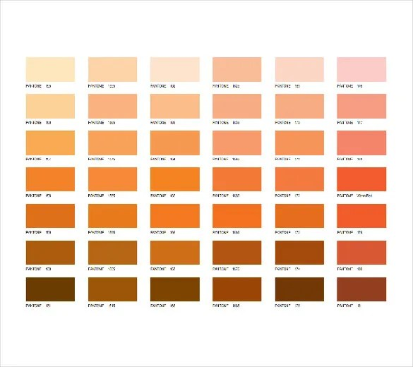 15+ Word Pantone Color Chart Templates Free Download Free - color chart template