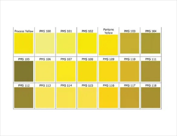 15+ Word Pantone Color Chart Templates Free Download Free - General Color Chart Template