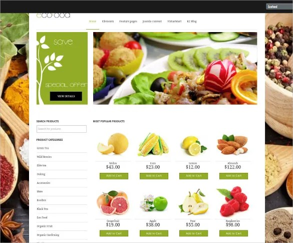 29+ Grocery Store Website Themes  Templates Free  Premium Templates
