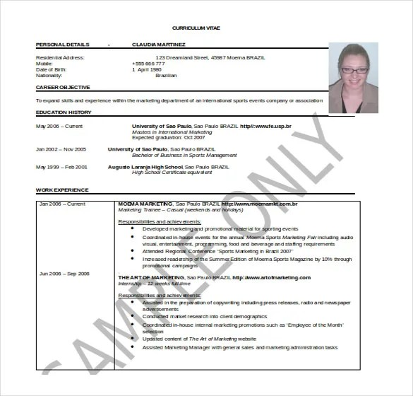 25+ Word Professional Resume Template - Free Download Free - resume template for it professional