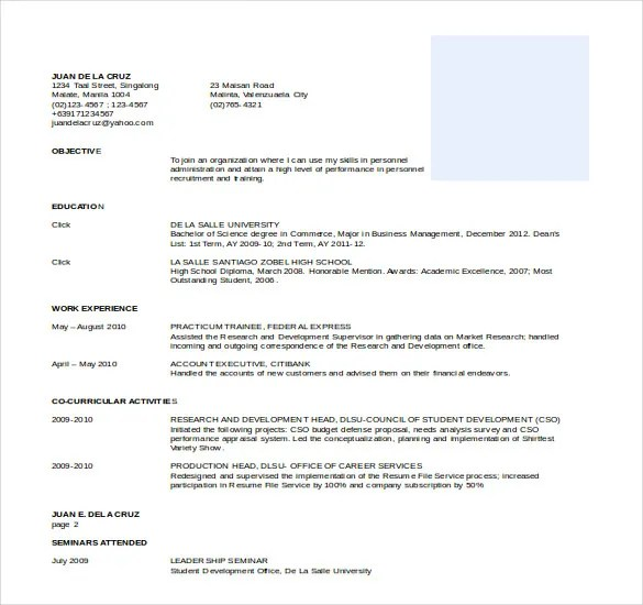 Professional Resume Templates Word Operation Manager Template - it resume template word