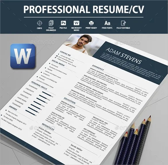 26+ Word Professional Resume Template - Free Download Free