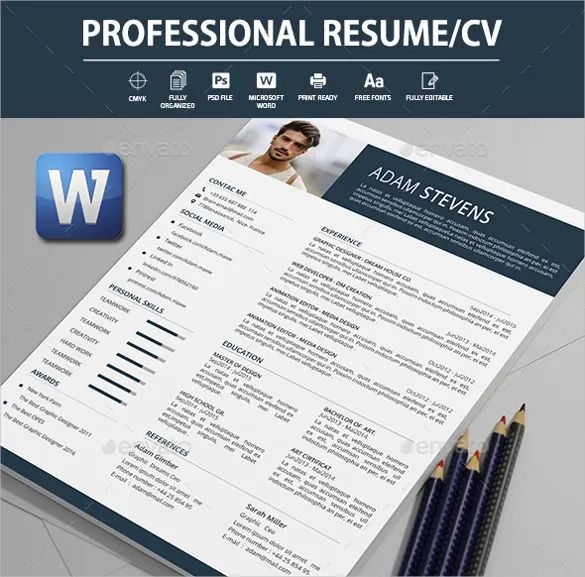 cv design in word format download free