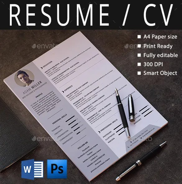 25+ Word Professional Resume Template - Free Download Free - Free Word Resume