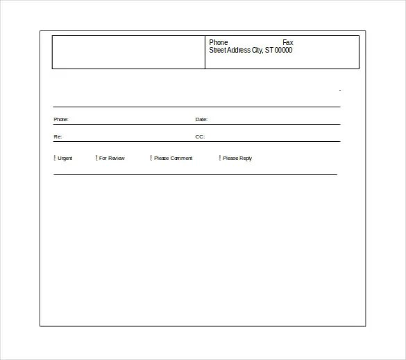 Word Fax Cover Sheet Free Download Basic Fax Cover Sheet Word
