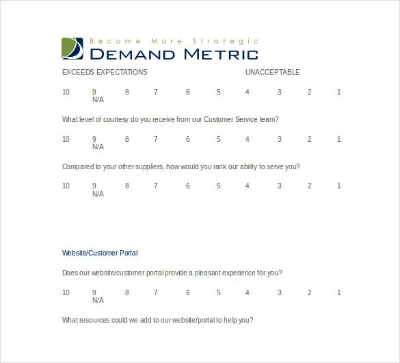37+ Word Survey Templates Free Download Free  Premium Templates