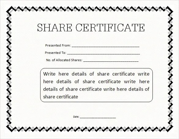 23+ Share Stock Certificate Templates - PSD, Vector EPS Free