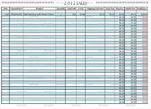 daily sales tracking sheet - Onwebioinnovate