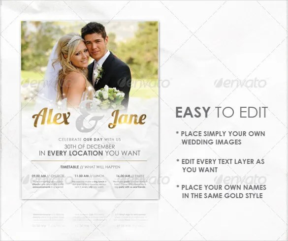 25+ Wedding Flyer Templates \u2013 Free Sample, Example, Format Download