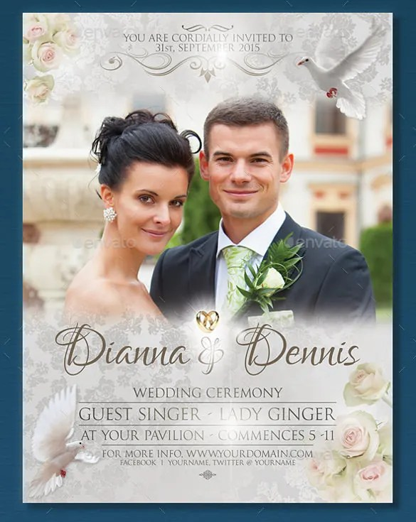 29+ Wedding Flyer Templates \u2013 PSD, Word, EPS Vector Formats Free