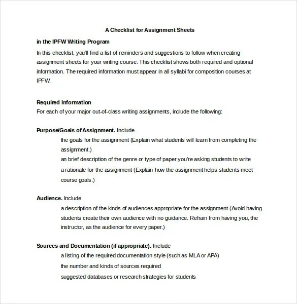 37+ Word Checklist Template - Examples in Word Free \ Premium - creating checklist