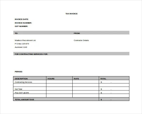 11+ Word Invoice Templates Free Download Free  Premium Templates - invoice template download word