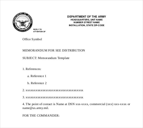 Professional Memo Template \u2013 15+ Word, PDF, Google Docs Documents
