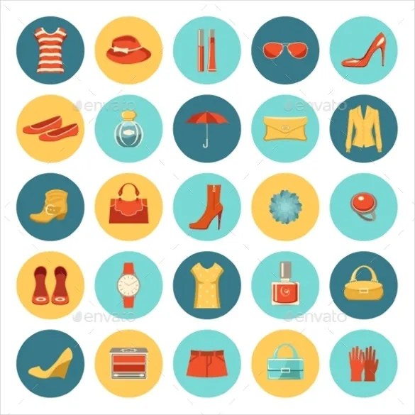 Fashion Icons \u2013 1244+ Free PSD, AI, Vector EPS Format Download