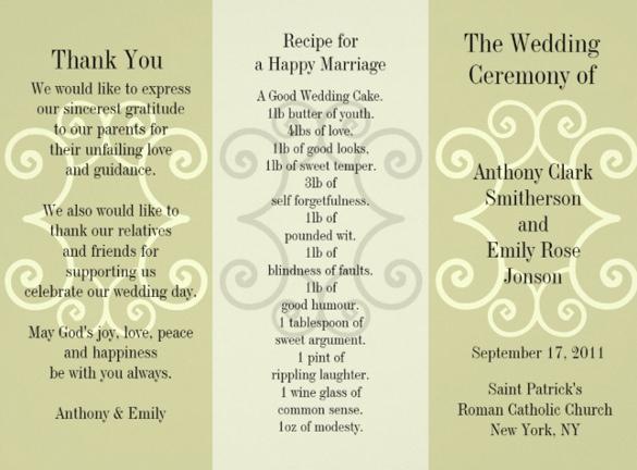 Wedding Brochure Examples - wedding brochure template