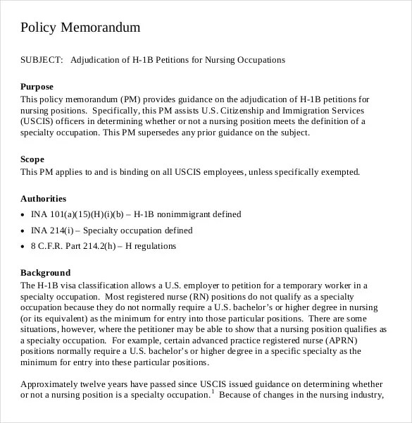 Policy Memo Templates u2013 15+ Free Word, PDF Documents Download - policy memo template