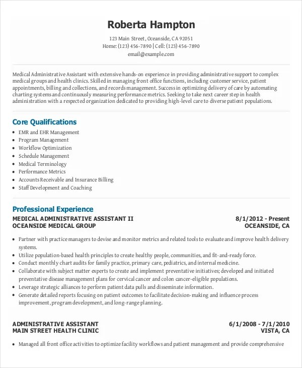 Administrative Assistant Resume Example - Resume Template Easy