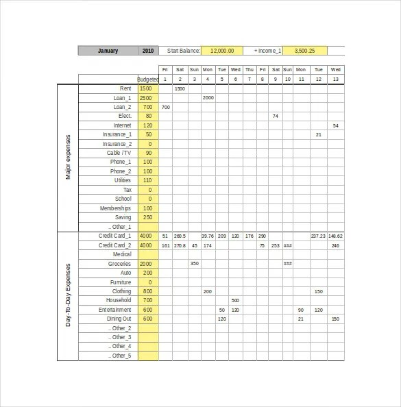 Expense Tracking Template - 18+ Free Word, Excel, PDF Documents