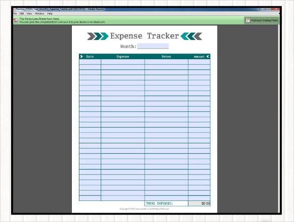 18+ Expense Tracking Templates \u2013 Free Sample, Example Format - expense tracking template