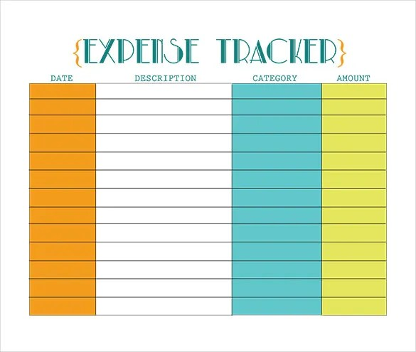 spending tracker template - Jolivibramusic