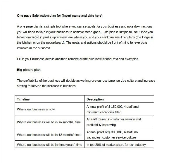 sales plan template word - Goalgoodwinmetals - Sales Plan Format