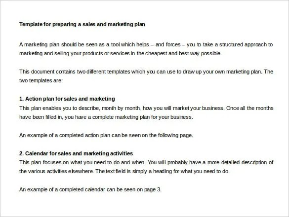 27+ Sales Action Plan Templates - DOC, PDF, PPT Free  Premium