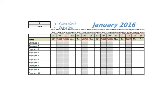 Vacation Tracking Template \u2013 9+ Free Word, Excel, PDF Documents
