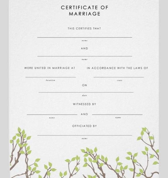 30+ Wedding Certificate Templates \u2013 Free Sample, Example, Format