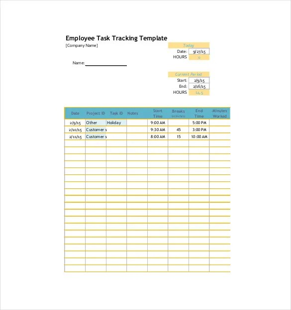 Task Tracking Template \u2013 10+ Free Word, Excel, PDF Format Download - employee task list