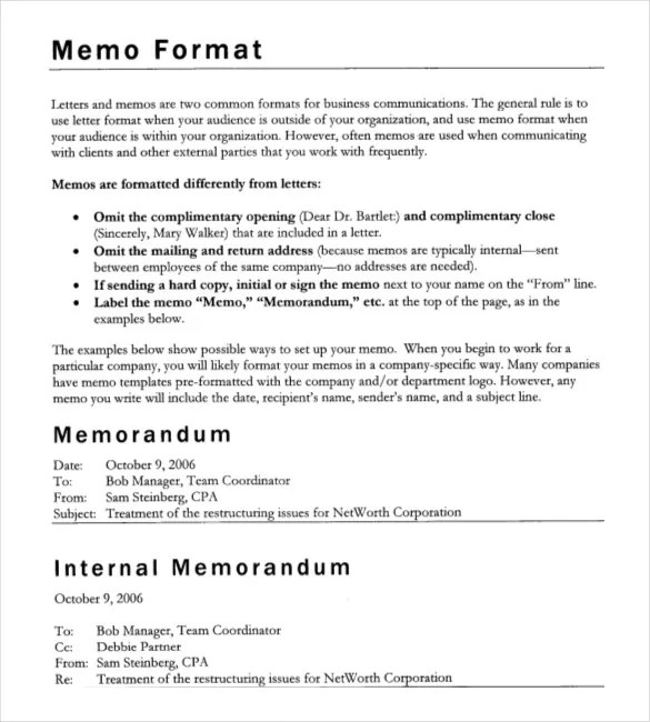 Company Memo Template \u2013 10+ Free Word, PDF Documents Download Free