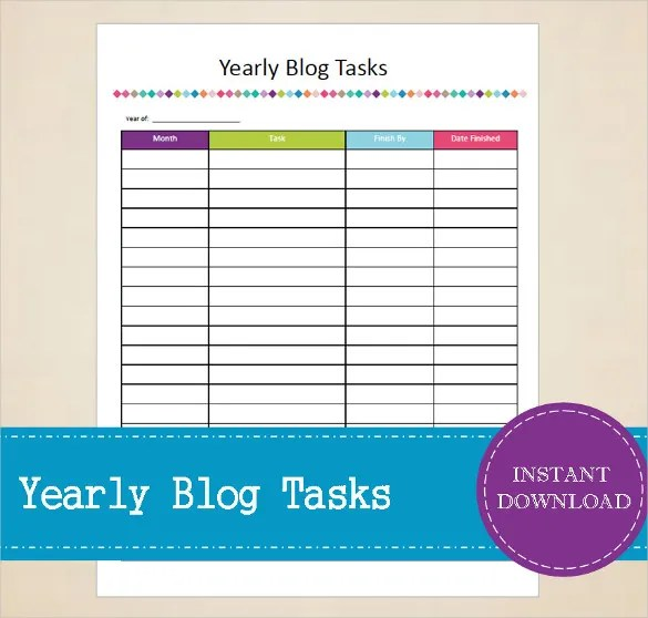 Task Tracking Template \u2013 10+ Free Word, Excel, PDF Format Download