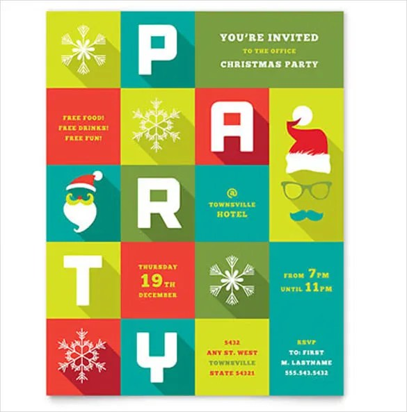 24+ Word Party Flyer Templates Free Download Free  Premium Templates - microsoft publisher christmas templates