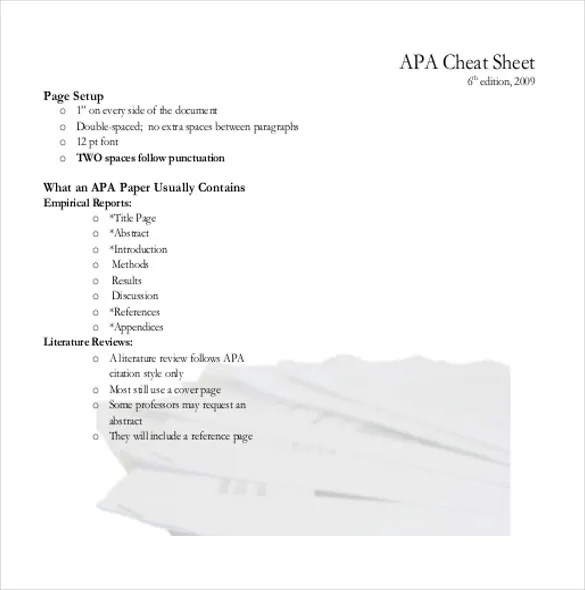 APA Cover Sheet \u2013 10+ Free Word, PDF Documents Download! Free